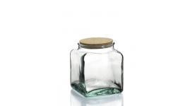 Tarros en vidrio cuadrados