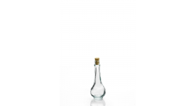 Tiny bottles in glass