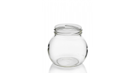 Glass jars Leonardo with metal cap