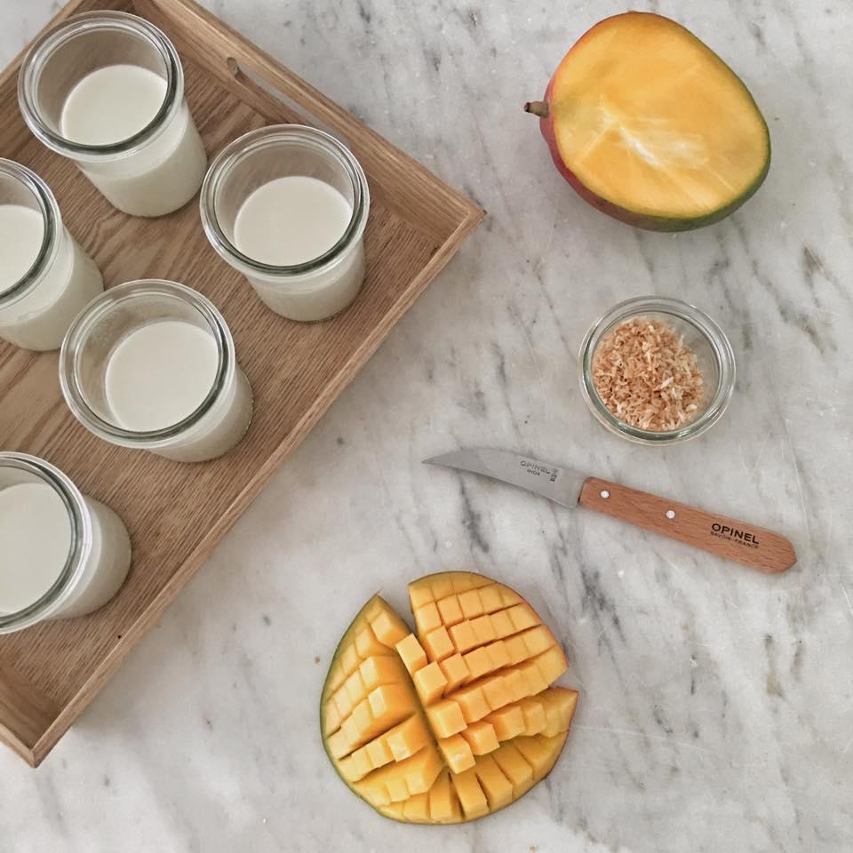 pannacotta mangue et noix de coco non solo food weck