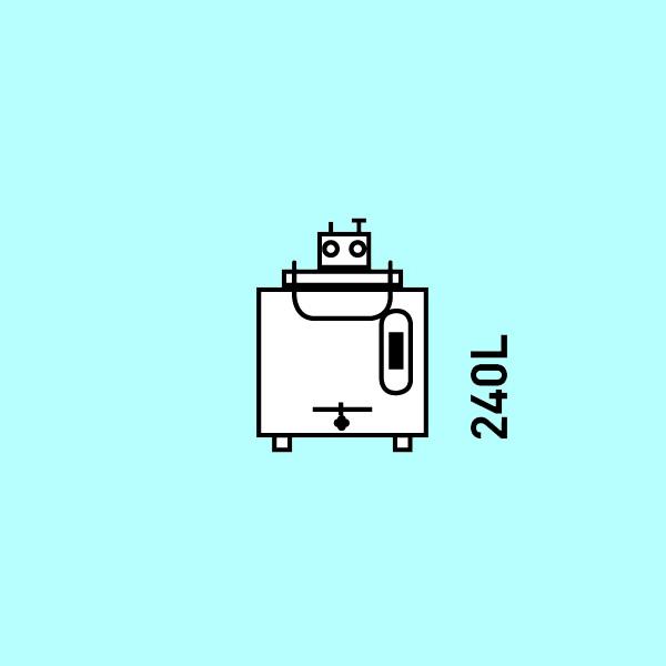 KA240 korimat 240 litres