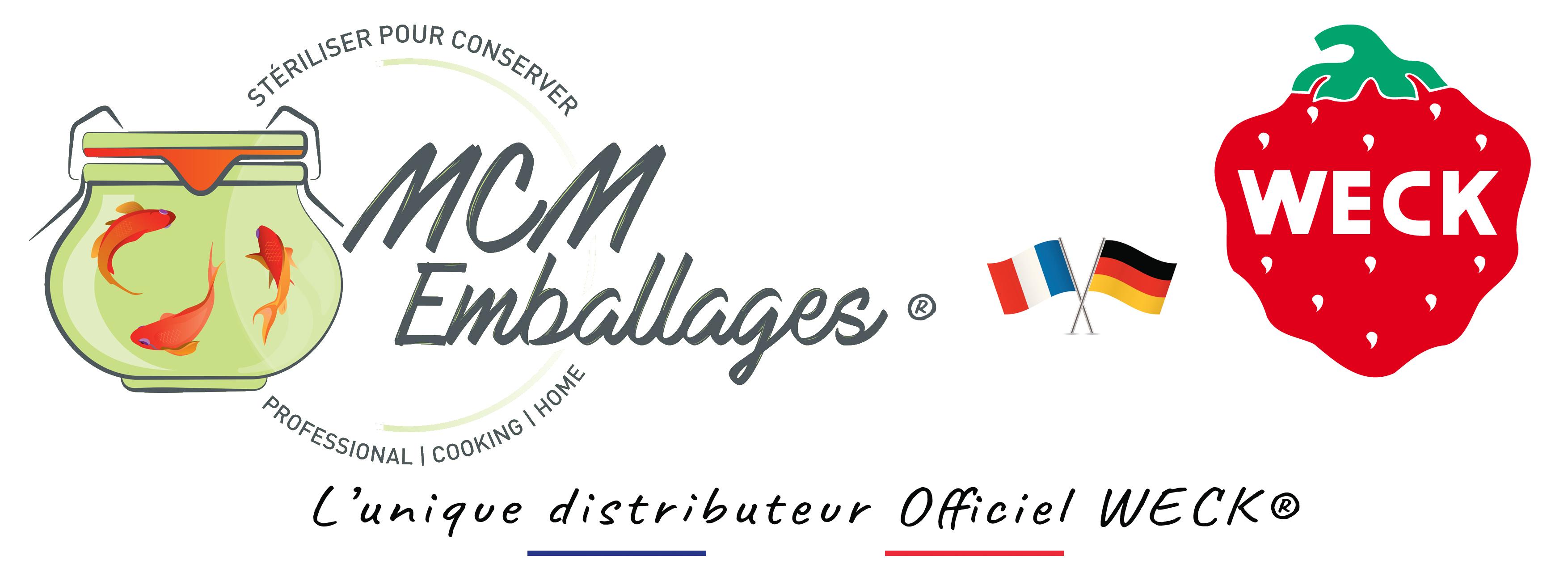 logo mcm emballages et WECK