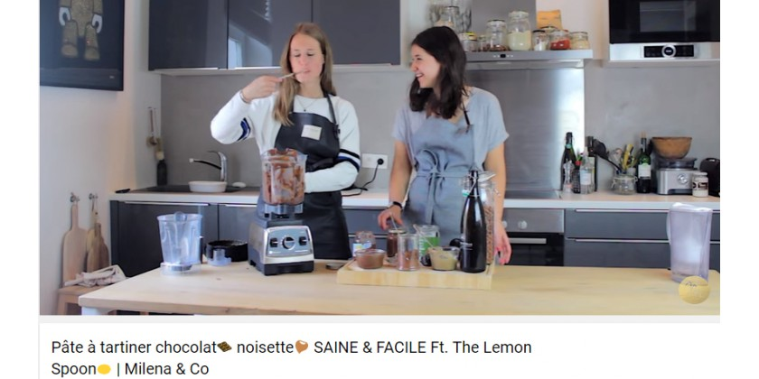 Pâte à tartiner chocolat noisette SAINE & FACILE Ft. The Lemon Spoon | Milena & Co