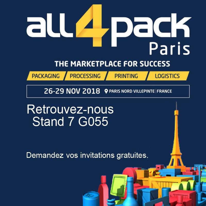 ALL 4 PACK Paris Villepinte 26 - 29 nov 2018